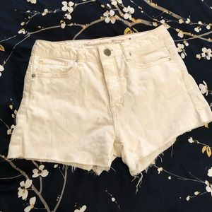American Eagle White High Waisted Jean Shorts